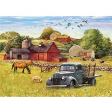 Cobble Hill Puzzles Cobble Hill Puzzle 1000pc Summer Afternoon on the Farm
