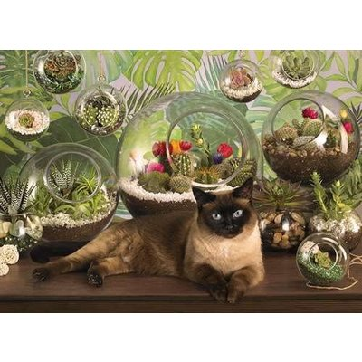 Cobble Hill Puzzles Cobble Hill  Puzzle 1000pc Terrarium Cat