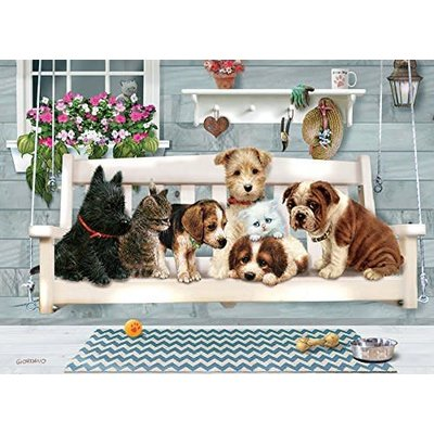 Cobble Hill Puzzles Cobble Hill Family Puzzle 350pc Porch Pals