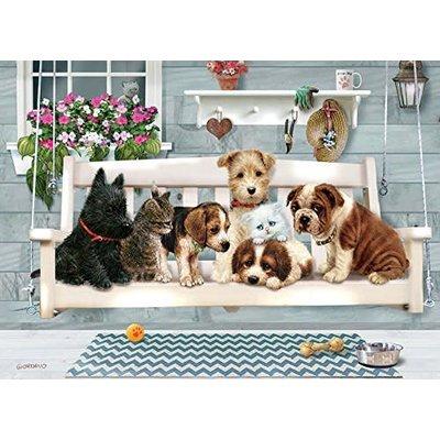 Cobble Hill Puzzles Cobble Hill Family Puzzle 350pc Porch Pals