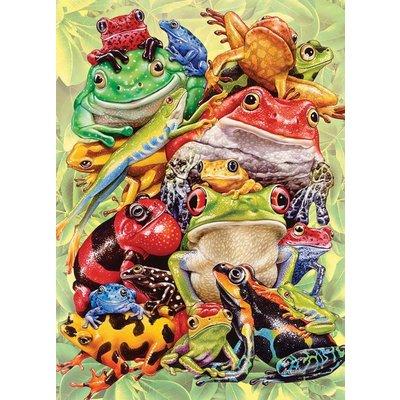 Cobble Hill Puzzles Cobble Hill Family Puzzle 350pc Frog Pile
