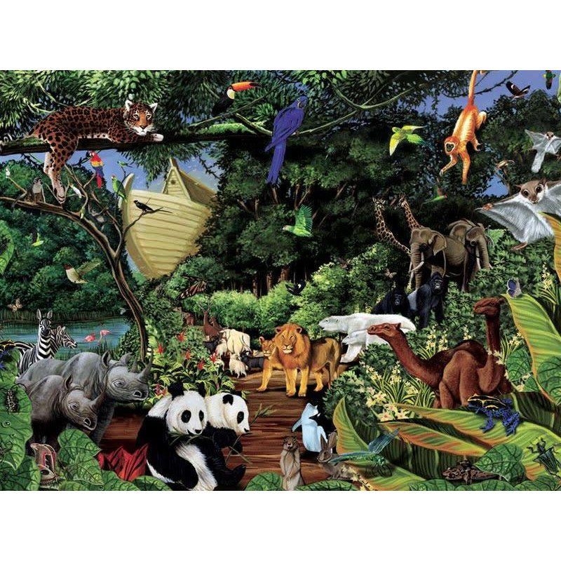 Cobble Hill Puzzles Cobble Hill Family Puzzle 350pc Noah's Gathering