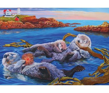 Cobble Hill Family Puzzle 350pc Otter Family