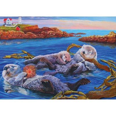 Cobble Hill Puzzles Cobble Hill Family Puzzle 350pc Otter Family