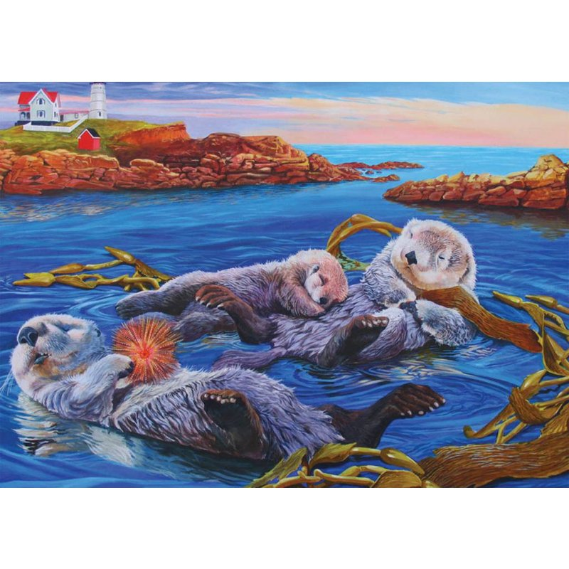 Cobble Hill Puzzles Cobble Hill Family Puzzle 350pc Otter Family