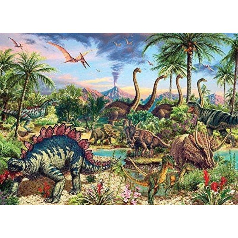 Cobble Hill Puzzles Cobble Hill Family Puzzle 350pc Prehistoric Party