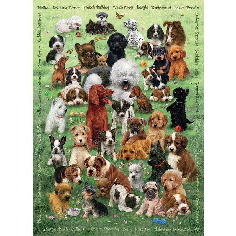 Cobble Hill Puzzles Cobble Hill Family Puzzle 350pc Puppy Love