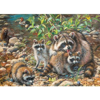 Cobble Hill Family Puzzle 350pc Racoon Family Minds Alive Toys