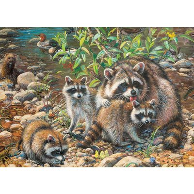 Cobble Hill Puzzles Cobble Hill Family Puzzle 350pc Racoon Family