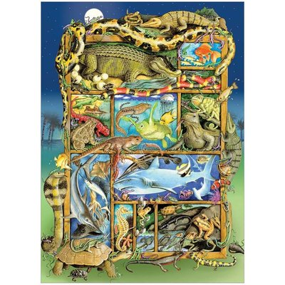 Cobble Hill Puzzles Cobble Hill Family Puzzle 350pc Reptiles & Amphibians