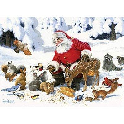 Cobble Hill Puzzles Cobble Hill Family Puzzle Santa Claus & Friends