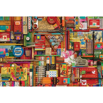 Cobble Hill Puzzles Cobble Hill Puzzle 2000pc Vintage Art Supplies