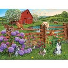 Cobble Hill Puzzles Cobble Hill Puzzle 275pc  Farm Cats