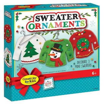Creativity for Kids Holiday Sweater Ornaments