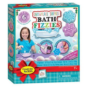 Creativity for Kids Holiday Snowflake Surprise Bath Fizzies