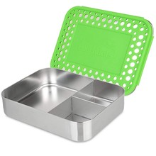 Malarkey Kids Lunchbots Trio Bento Stainless Steel