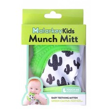 Malarkey Kids Munch Mitt Baby Teether Green Cactus