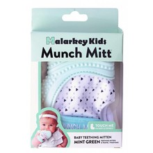 Malarkey Kids Munch Mitt Baby Teether Mint Green Triangles