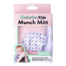 Malarkey Kids Munch Mitt Baby Teether Pastel Pink Hearts