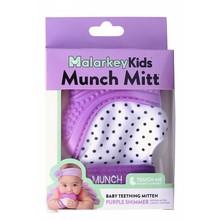 Malarkey Kids Munch Mitt Baby Teether Purple Polka Dots