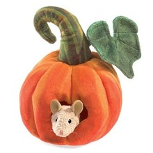Folkmanis Folkmanis Puppet Mouse in Pumpkin