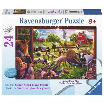 Ravensburger Ravensburger Floor Puzzle 24pc Animlas of Bells Farm