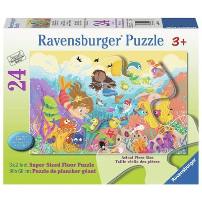 Ravensburger Ravensburger Floor Puzzle 24pc Splashing Mermaids