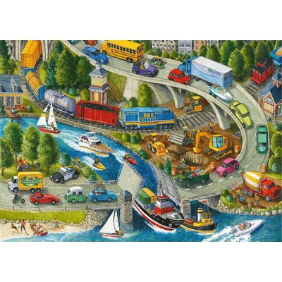 Ravensburger Ravensburger Floor Puzzle 24pc Vacation Hustle