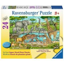 Ravensburger Ravensburger Floor Puzzle 24pc Watering Hole Delight