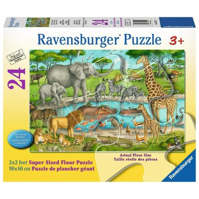 Ravensburger Ravensburger Floor Puzzle 24pc Watering Hole Delight