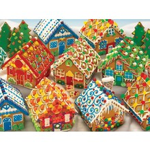 Cobble Hill Puzzles Cobble Hill Family Puzzle 350pc Gingerbread Houses