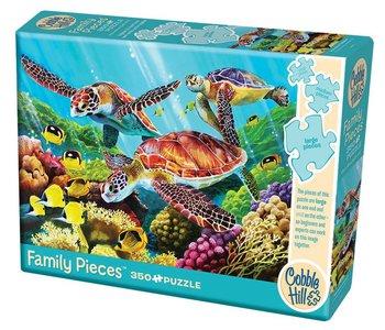 Cobble Hill Family Puzzle 350pc Molokini Turtles