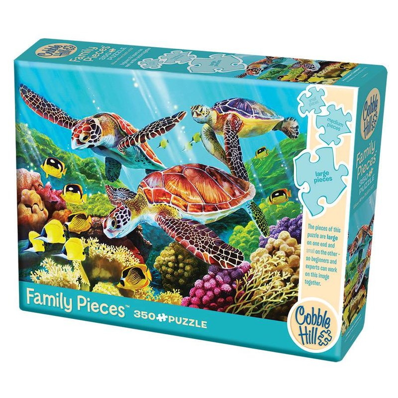 Cobble Hill Puzzles Cobble Hill Family Puzzle 350pc Molokini Turtles