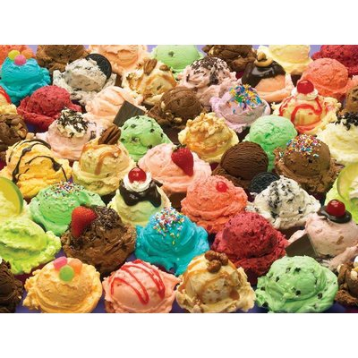 Cobble Hill Puzzles Cobble Hill Family Puzzle 350pc More Ice Cream