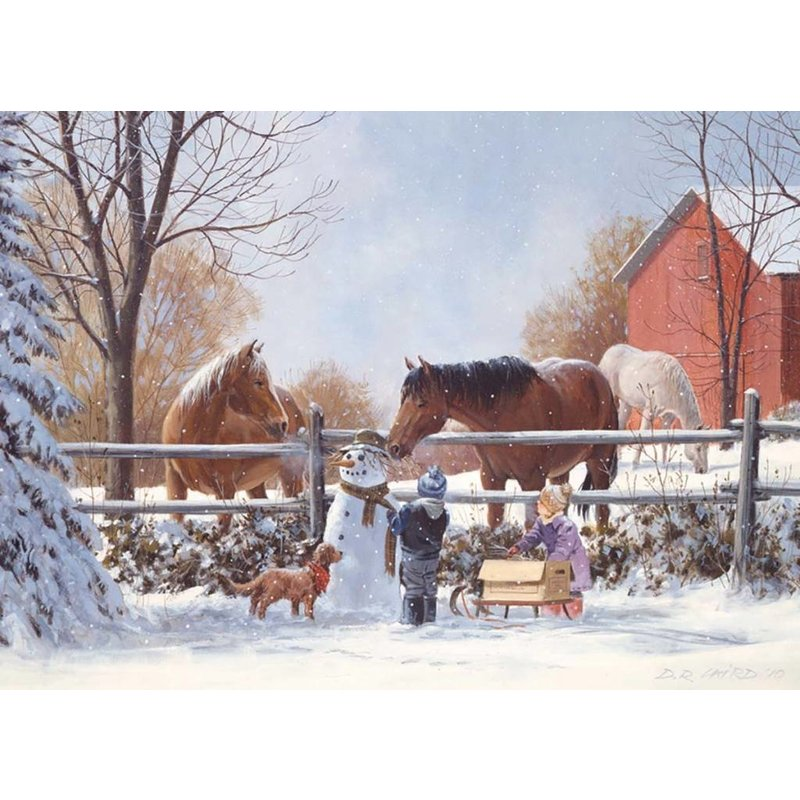 Cobble Hill Puzzles Cobble Hill Family Puzzle 350pc  Frosty's Friends