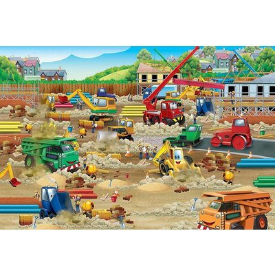 Cobble Hill Puzzles Cobble Hill Floor Puzzle 36pc Construction