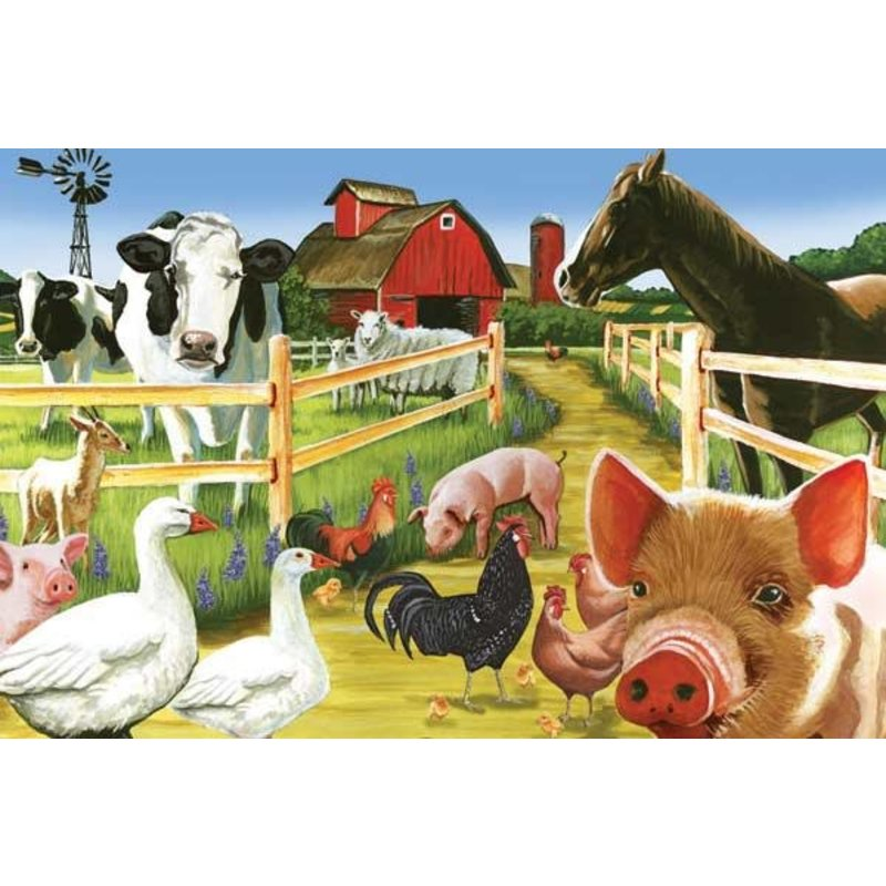 Cobble Hill Puzzles Cobble Hill Floor Puzzle 36pc Welcome to the Farm