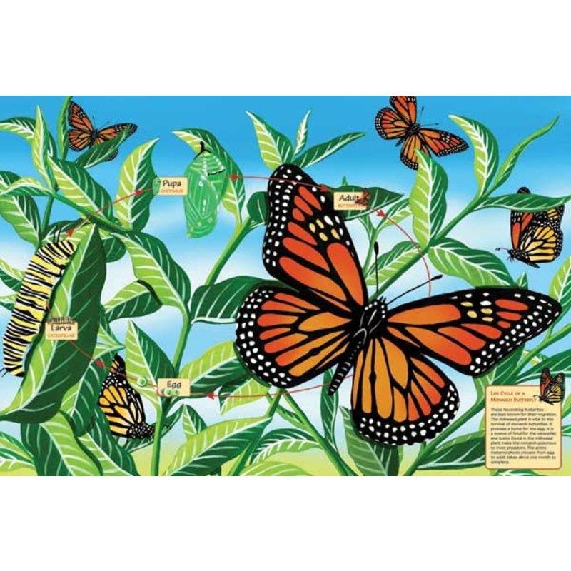 Cobble Hill Puzzles Cobble Hill Floor Puzzle 48pc Butterfly