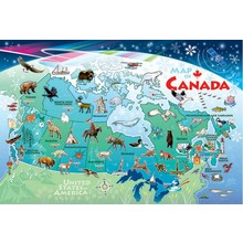 Cobble Hill Puzzles Cobble Hill Floor Puzzle 48pc Map of Canada