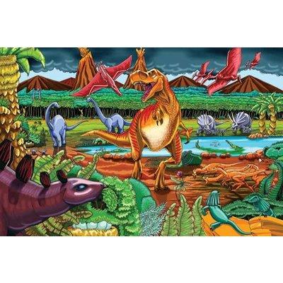 Cobble Hill Puzzles Cobble Hill Floor Puzzle Dinosaur Volcano