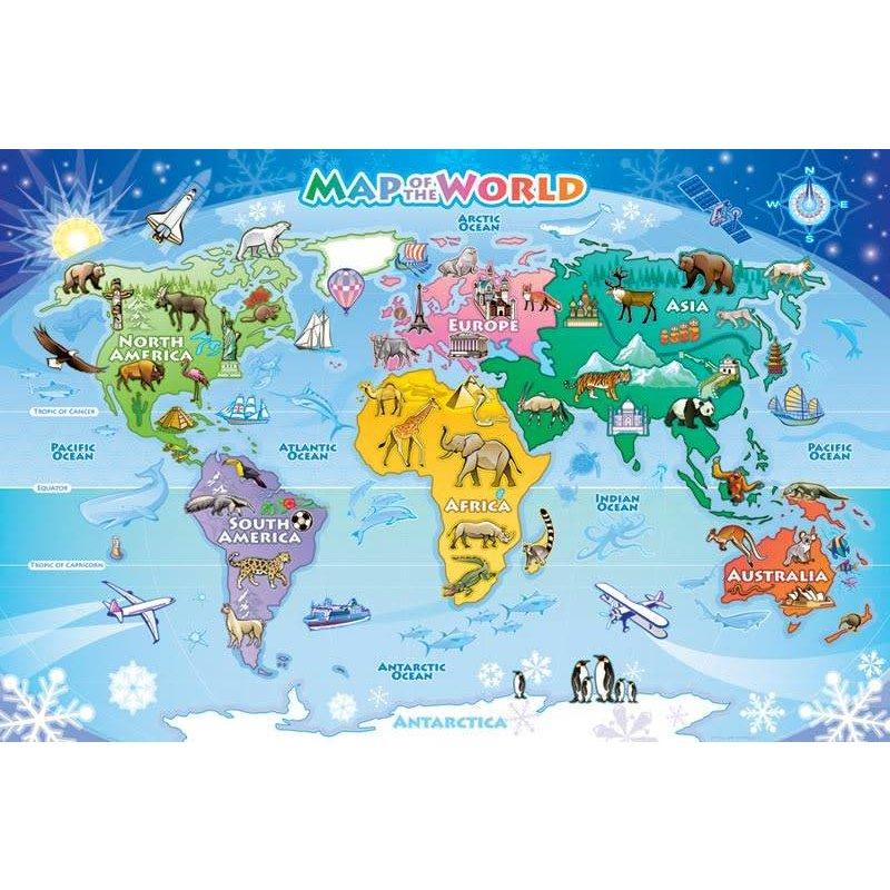 Cobble Hill Puzzles Cobble Hill Floor Puzzle World Map