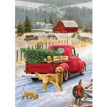 Cobble Hill Puzzles Cobble Hill Puzzle 1000pc Christmas on the Farm