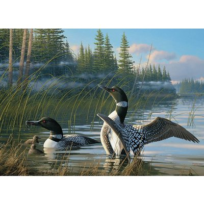 Cobble Hill Puzzles Cobble Hill Puzzle 1000pc Common Loons