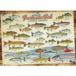 Cobble Hill Puzzles Cobble Hill Puzzle 1000pc Freshwater Fish of NA