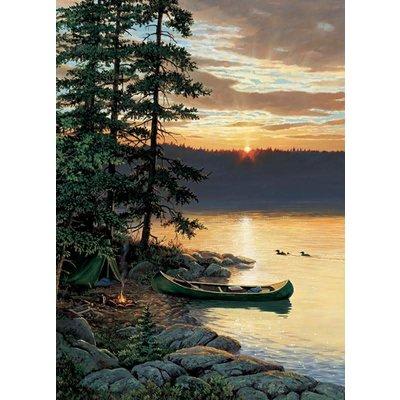 Cobble Hill Puzzles Cobble Hill Puzzle 500pc Canoe Lake