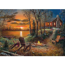 Cobble Hill Puzzles Cobble Hill Puzzle 500pc Fireside