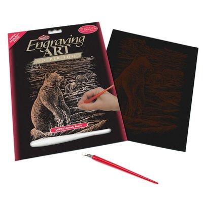 Engraving Art Copper Foil Bears