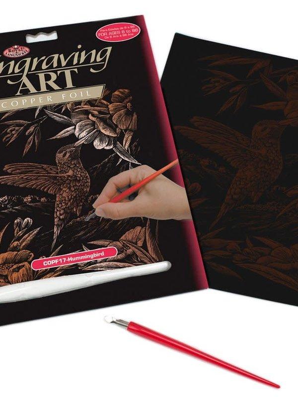 Engraving Art Copper Foil Humming Bird