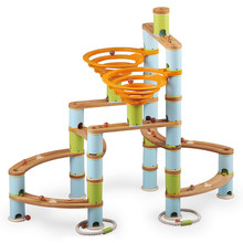 Fat Brain Toys Fat Brain Toys Bamboo Builder Marble Run 168pc Set