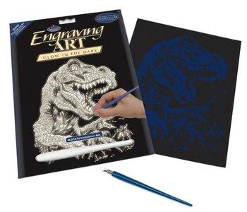 Engraving Art Glow Tyrannosaurus Rex